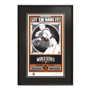San Francisco Giants Buster Posey 2014 World Series Champion Framed LE Screen Print By Sports Propaganda