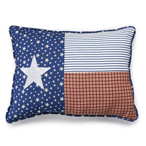 Home Classics Wesley Texas Throw Pillow
