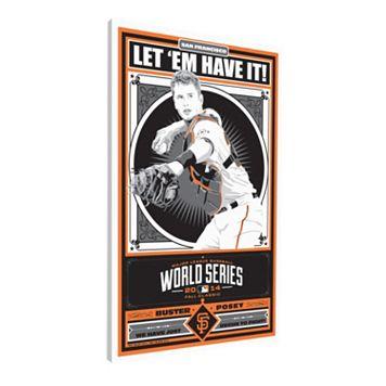 San Francisco Giants Buster Posey 2014 World Series Champion LE Canvas Print By Sports Propaganda