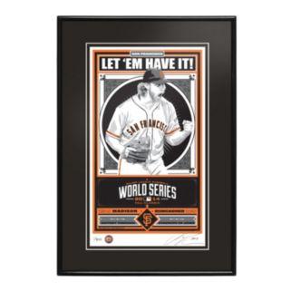 San Francisco Giants Madison Bumgarner 2014 World Series Champion Framed LE Screen Print By Sports Propaganda