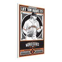 San Francisco Giants Madison Bumgarner 2014 World Series Champion LE Canvas Print By Sports Propaganda