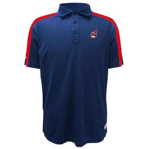 Men's Stitches Cleveland Indians Waffle Polo