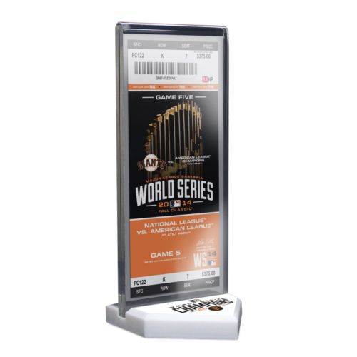 San Francisco Giants 2014 World Series Champions Home Plate Ticket Display Stand with Commemorative ...