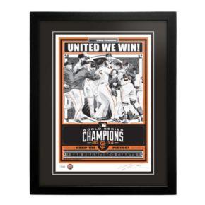 San Francisco Giants 2014 World Series Champion Framed LE Screen Print By Sports Propaganda