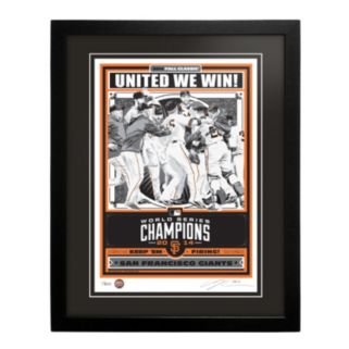 San Francisco Giants 2014 World Series Champion Framed LE Screen Print By Sports Propaganda