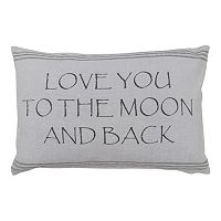 Park B. Smith ''Love You to the Moon and Back'' Throw Pillow