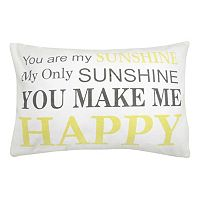 Park B. Smith ''You Are My Sunshine'' Throw Pillow