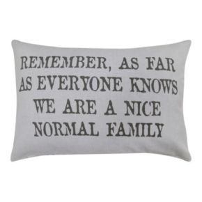 Park B. Smith ''Normal Family'' Throw Pillow
