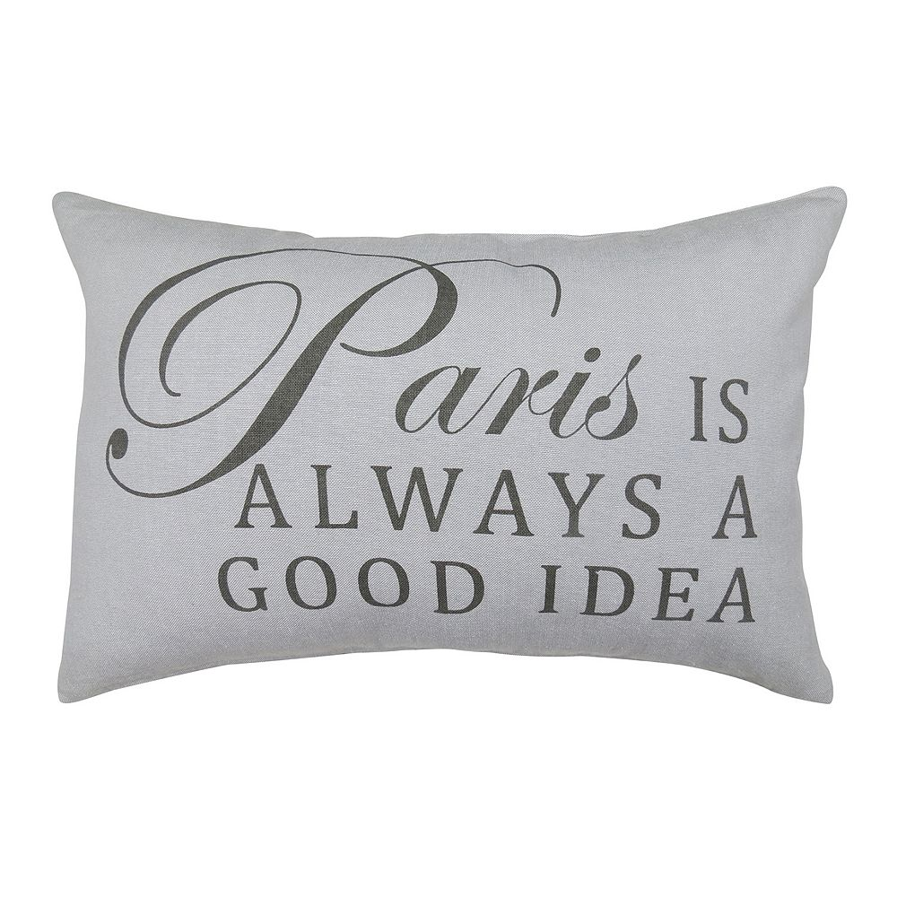 Park B Smith Paris Is Always A Good Idea Throw Pillow