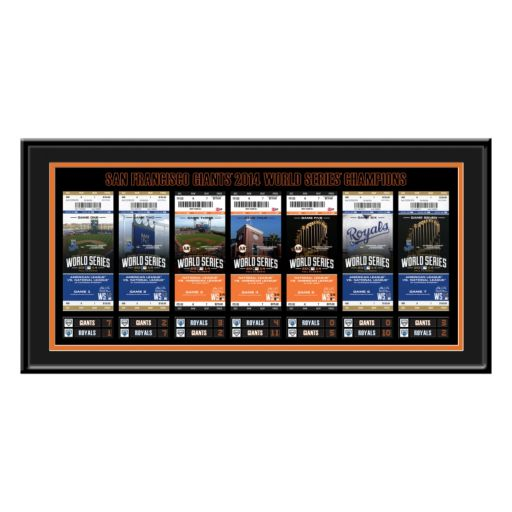 San Francisco Giants 2014 World Series Tickets To History Framed Print