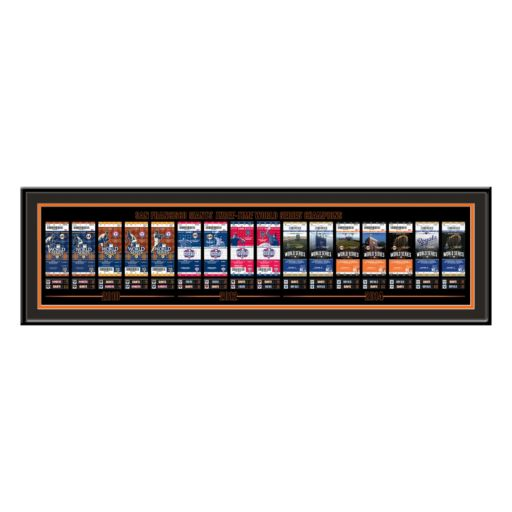 San Francisco Giants 3-Time World Series Champions Tickets To History Framed Print