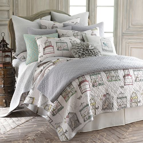 Gray Palladium Quilt Set : Fiesta dash reversible quilt set