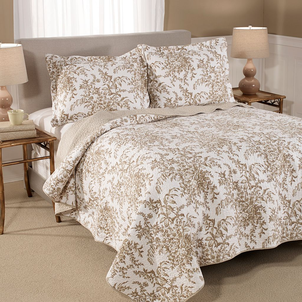 Laura Ashley Lifestyles Bedford Reversible Quilt Set