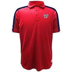 Men's Stitches Washington Nationals Waffle Polo