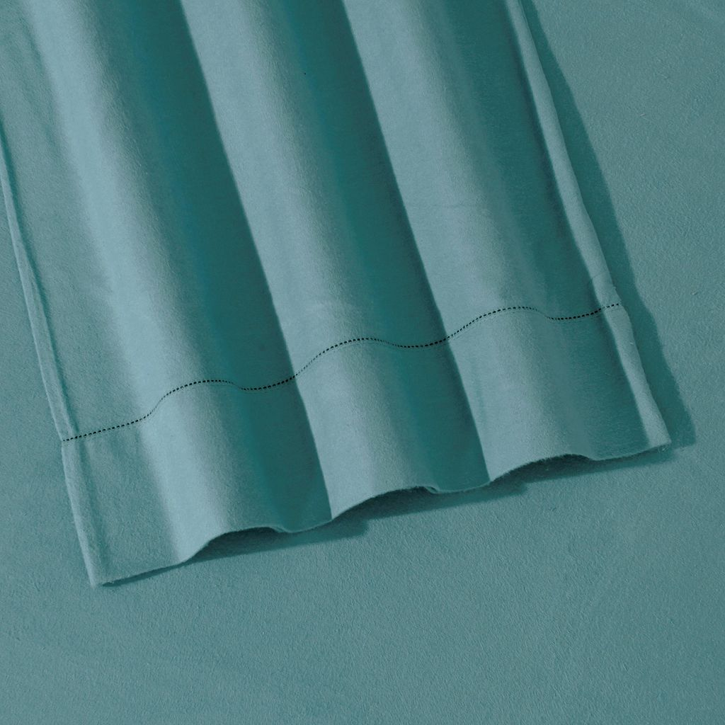 Luxury Flannel Hemstitched Solid Deep-Pocket Sheets