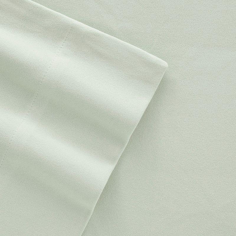 Micro Flannel Deep-Pocket Sheets. Blue. Queen Set