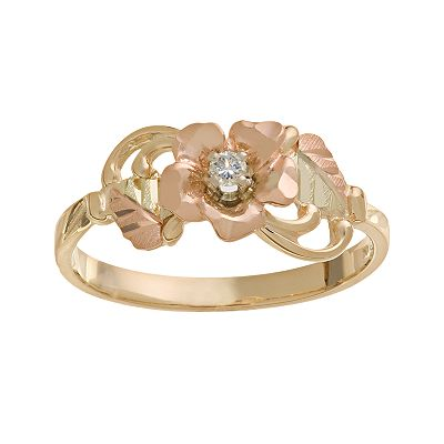 10k Gold Diamond Accent Dakota Rose Ring