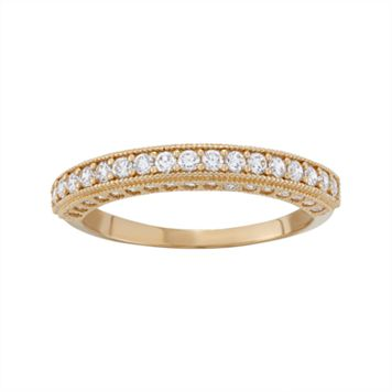 Cubic Zirconia Wedding Ring in 10k Gold