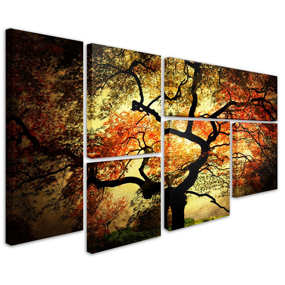 Japanese 6 piece canvas wall art set