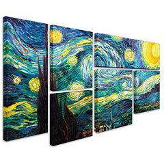 'Starry Night' 6-piece Canvas Wall Art Set by Vincent van Gogh
