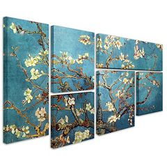 'Almond Blossoms' 6-piece Canvas Wall Art Set by Vincent van Gogh