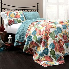 Lush Decor Layla 3 pc Reversible Quilt Set