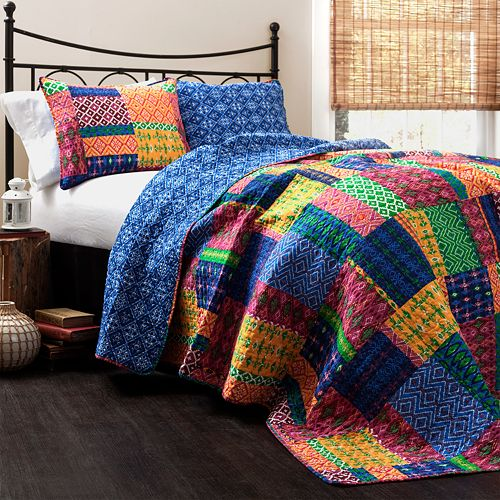 Lush Decor Misha 3-pc. Reversible Quilt Set