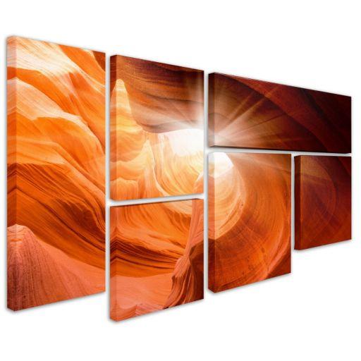 """Smooth 2"" 6-piece Canvas Wall Art Set"