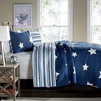Lush Decor Star Reversible Quilt Set