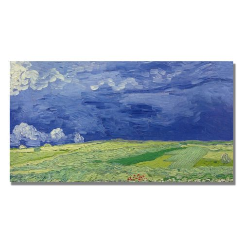 """Wheatfields Under Thundercloud"" Canvas Wall Art by Vincent van Gogh"