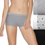 Hanes Ultimate 3-pack ComfortBlend Stretch X-Temp Boyshorts 49XT