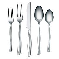 Corelle Laina Frost 45 pc Flatware Set