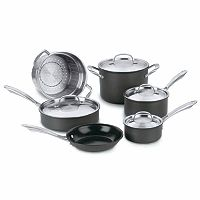 Cuisinart 10-pc. Green Gourmet Hard-Anodized Nonstick Cookware Set