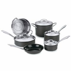 Cuisinart 10 pc Green Gourmet Hard-Anodized Nonstick Cookware Set