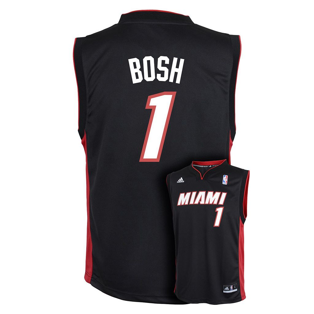 Boys 8-20 adidas Miami Heat Chris Bosh NBA Replica Jersey