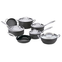 Cuisinart 12 pc Green Gourmet Hard-Anodized Nonstick Cookware Set