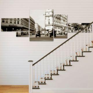 """Parisian Intersection"" 5-piece Canvas Wall Art Set"