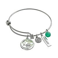 love this life Crystal & Aventurine Stainless Steel