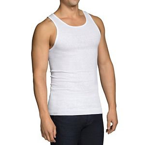 ee31abb86bbe1a Men s Fruit of the Loom Signature Super Soft Black Grey A-Shirt (6-pack)