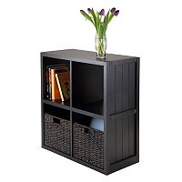 Winsome Timothy 3-piece 4-Cube Storage Shelf & Basket Set
