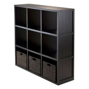 Winsome Timothy 4-piece 9-Cube Storage Shelf and Basket Set
