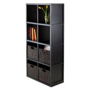 Winsome Timothy 5-piece 8-Cube Storage Shelf and Basket Set