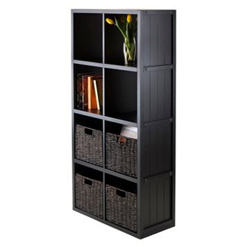 Winsome Timothy 5-piece 8-Cube Storage Shelf & Basket Set