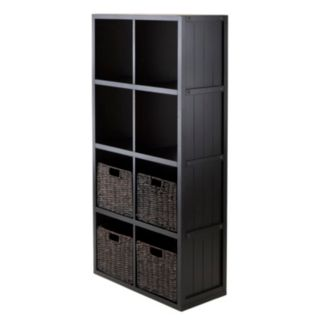 Winsome Timothy 5-piece 8-Cube Storage Shelf and Basket Set