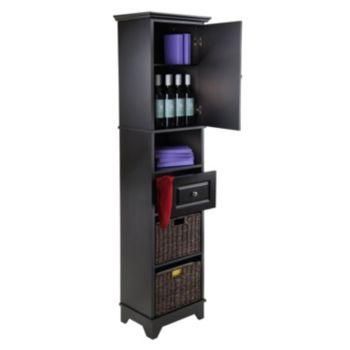 Winsome Wyatt 3-piece Storage Cabinet and Basket Set