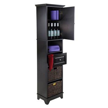 Winsome Wyatt 3-piece Storage Cabinet & Basket Set