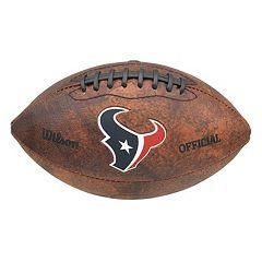 Wilson Houston Texans Throwback Football