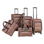 American Flyer Gold Coast 5 pc Spinner Luggage Set
