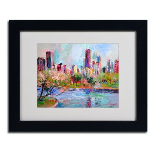 """""""Cityscape 2"""" Matted Framed Canvas Wall Art"""