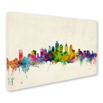 """Philadelphia Pennsylvania"" Canvas Wall Art"